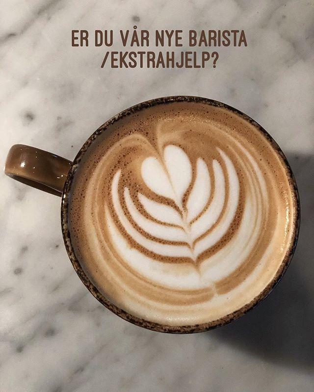 Elsker du mennesker, liker å stå på, er ærlig og høflig og vil lære om kaffe, kan det være akkurat deg vi leter etter! 👈🏻 Send en PM! #larsenfamilienutvider #stressoghygge #helgeturnus #herligekunder #herligekollegaer