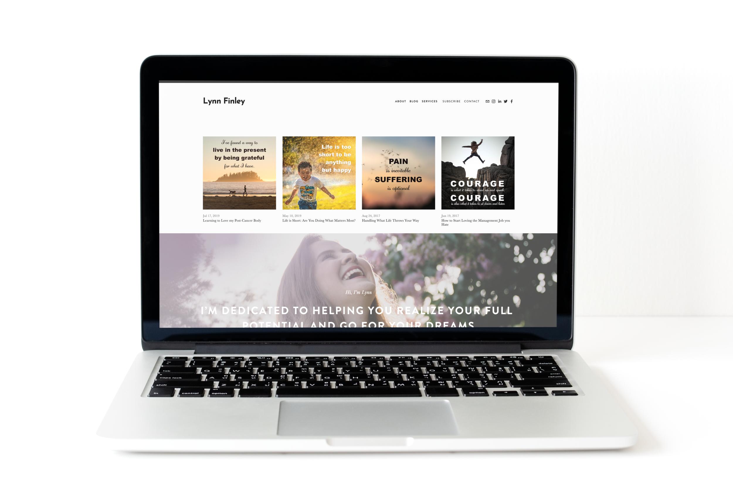Lynn Finley Coaching - Website design, branding and graphic design
