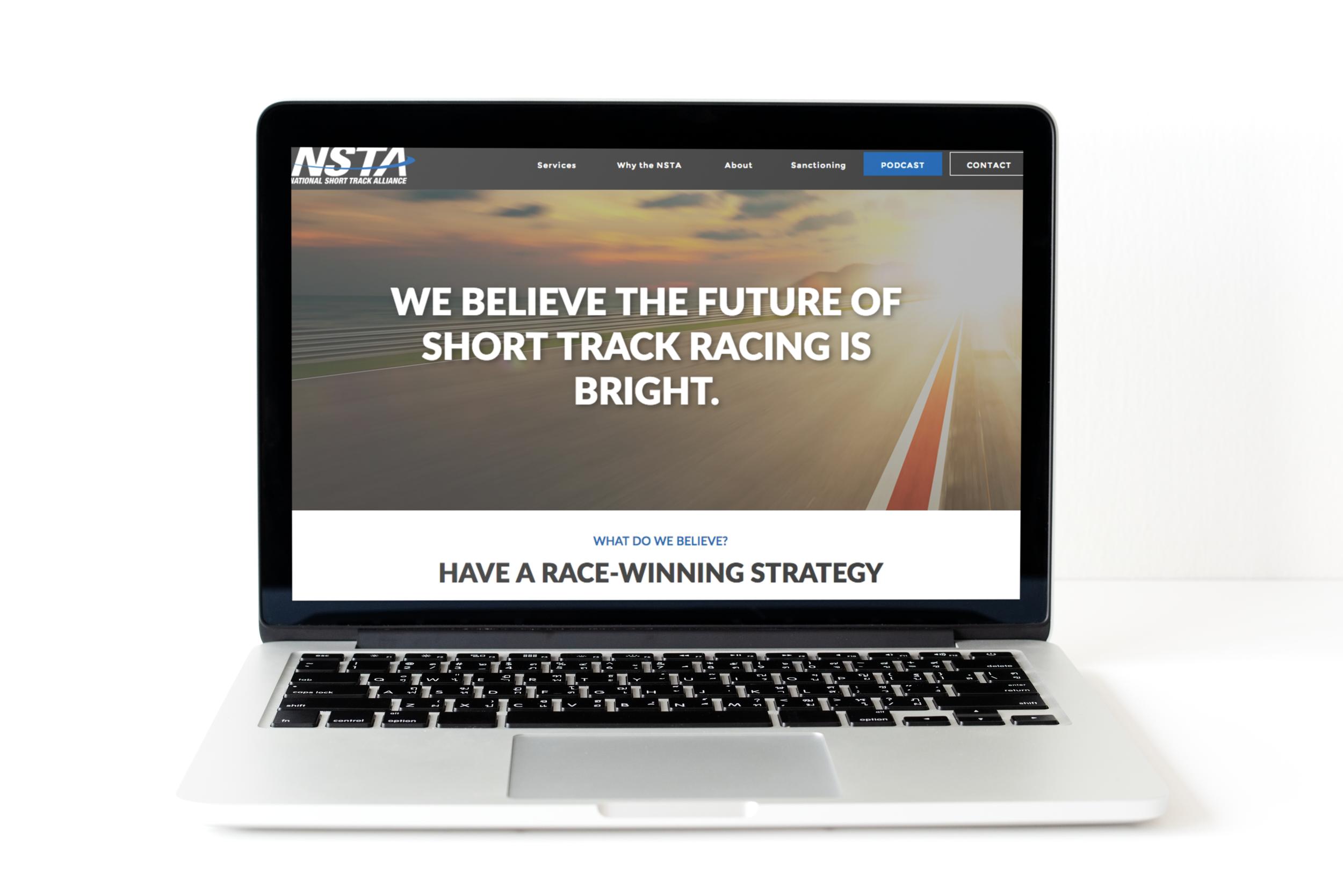 National Short Track Alliance - Website design and development, branding