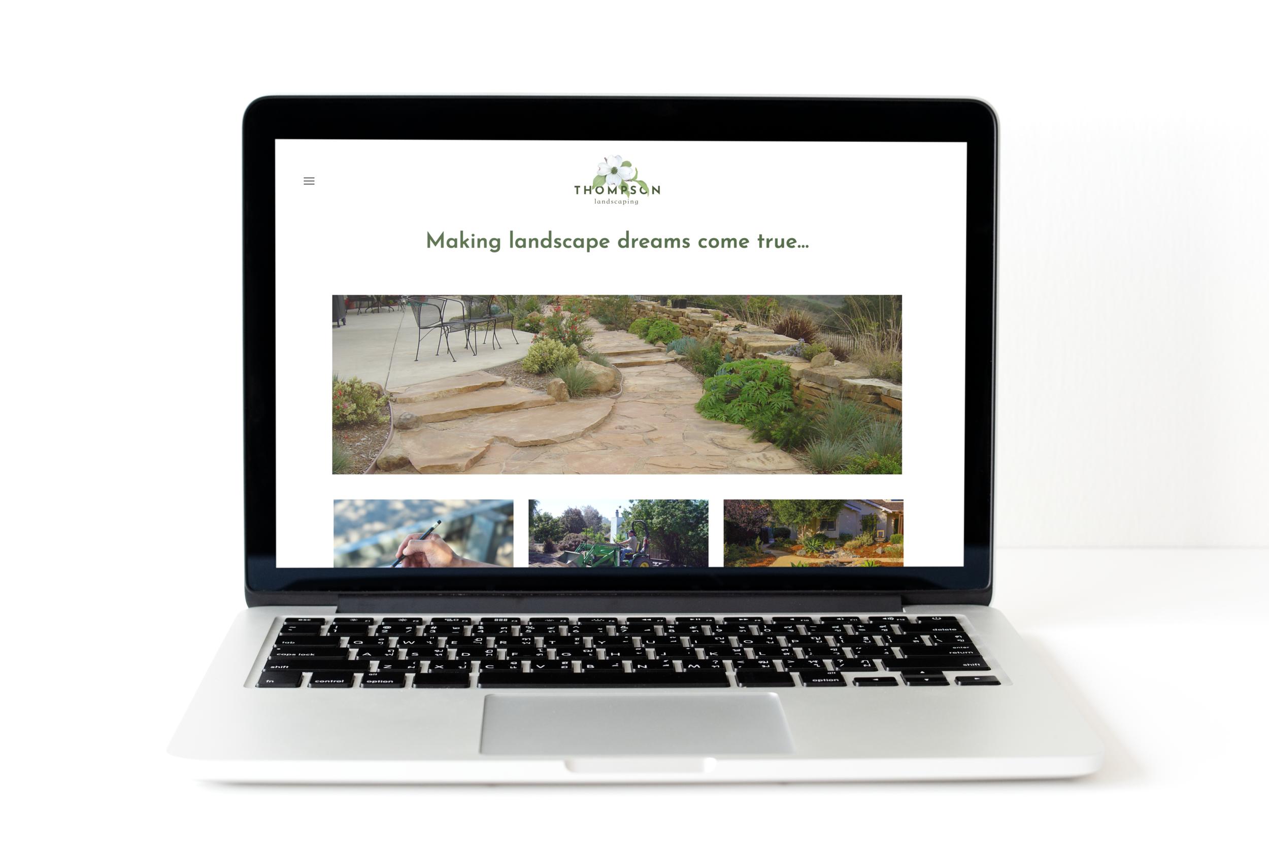 Thompson Landscaping - Website and logo design