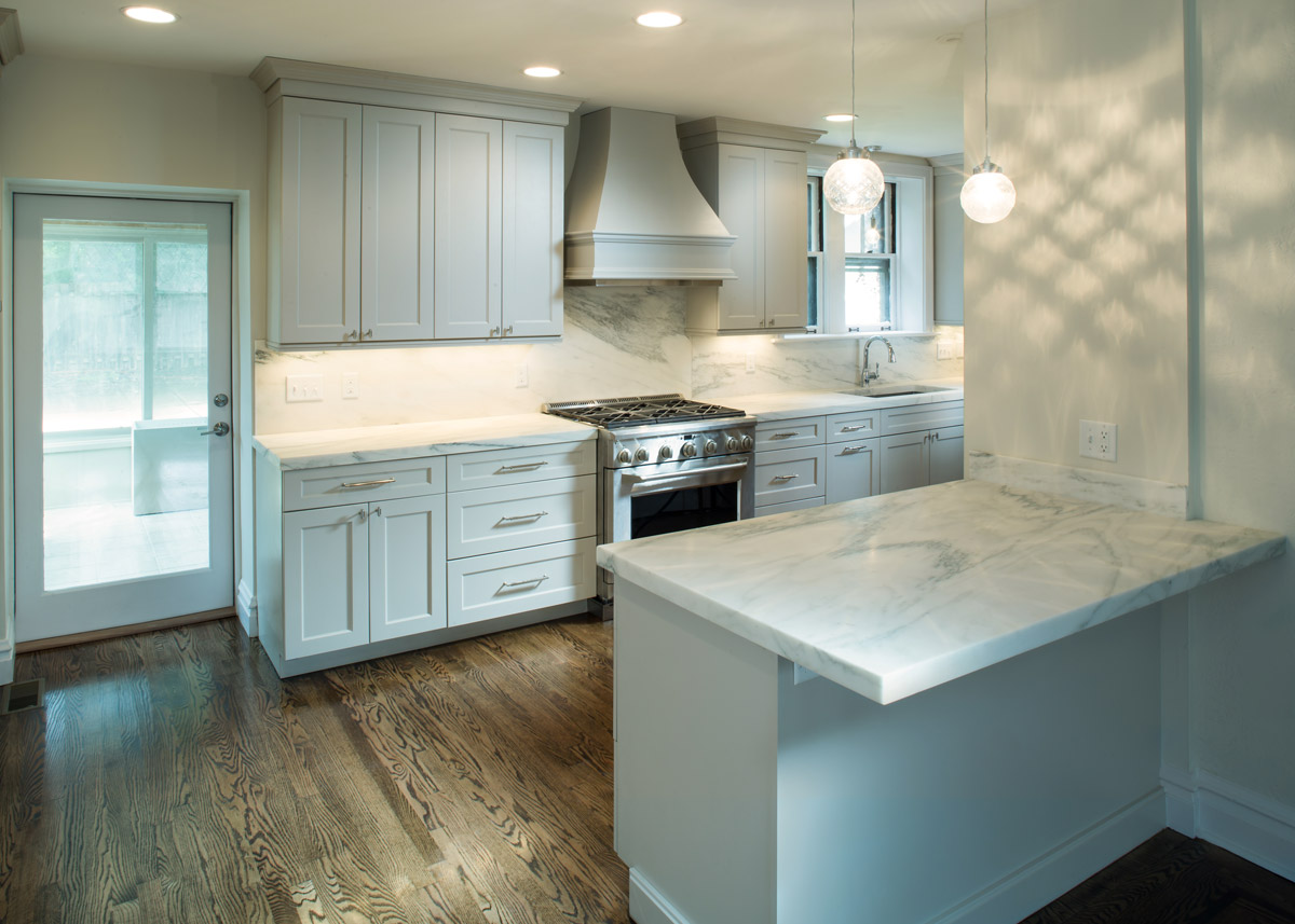 Custom Cabinets & Countertops, Removing of Bering Walls, New Plumbing & Electric