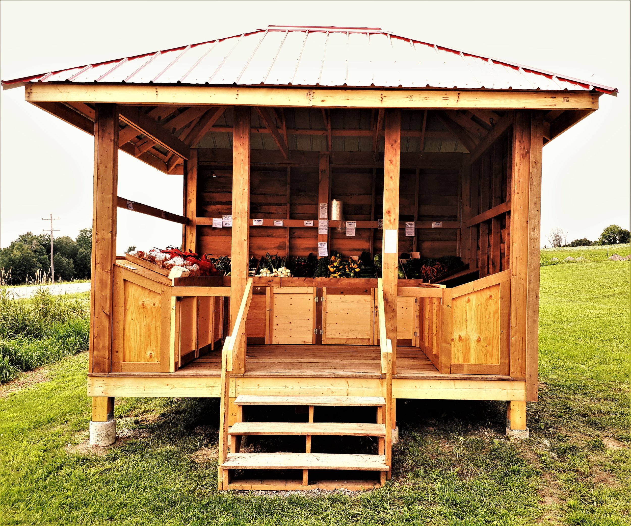 Our farm stand on County Road 42.