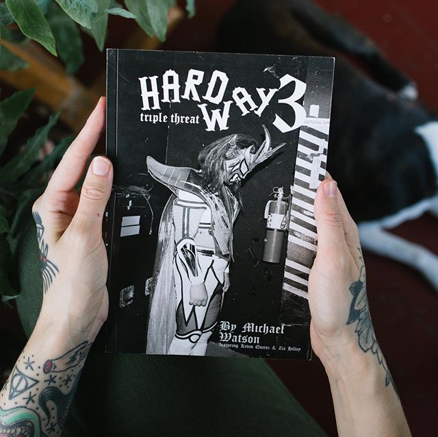 ATTN! Our pal @brainbuster_ just released HARD WAY 3, the latest installment of his zine series documenting independent wrestling during Wrestlemania weekend. This time, he's brought @35mm.wrestling and @zia_shoots_wrestling on board to create a super issue of sorts. Essential! Grab it from @brainbuster_ at the link in his bio!