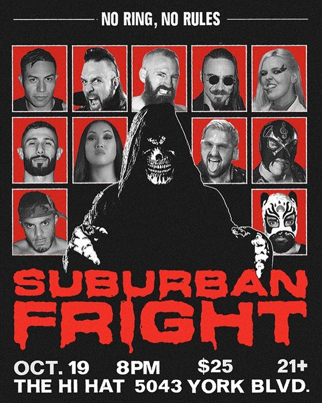 @suburbanxfight presents SUBURBAN FRIGHT 🕷🕸🦇👻 Tickets via the link in their bio!