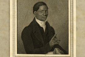 This is John Gloucester ((1776-1822). We have not yet found a picture of William Thomas Catto. The main picture is the First African Presbyterian Church in Philadelphia, PA, c. 1890.