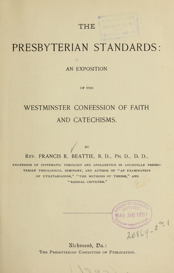 Beattie, Presbyterian Standards.jpg