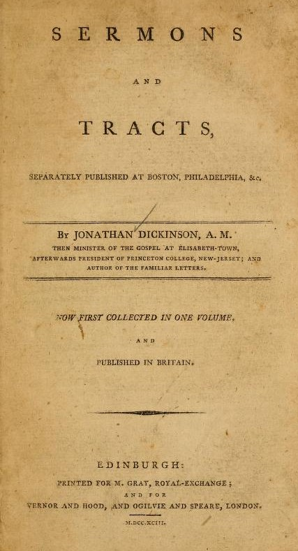 1. The Reasonableness of Christianity (1732) 2. The true Scripture Doctrine concerning some important points of Christian Faith: particularly, Eternal Election, Original Sin, Grace in Conversion, Justification by Faith, and The Saints Perseverance (1741)  [some pages missing]  3. Sermon on the Witness of the Spirit (1740) 4. Sermon on the Nature and Necessity of Regeneration (1743) 5. A Display of God's Special Grace (1743) 6. Reflections upon Mr Wetmore''s Letter in defence of Dr. Waterland's discourfe on Regeneration (1745)