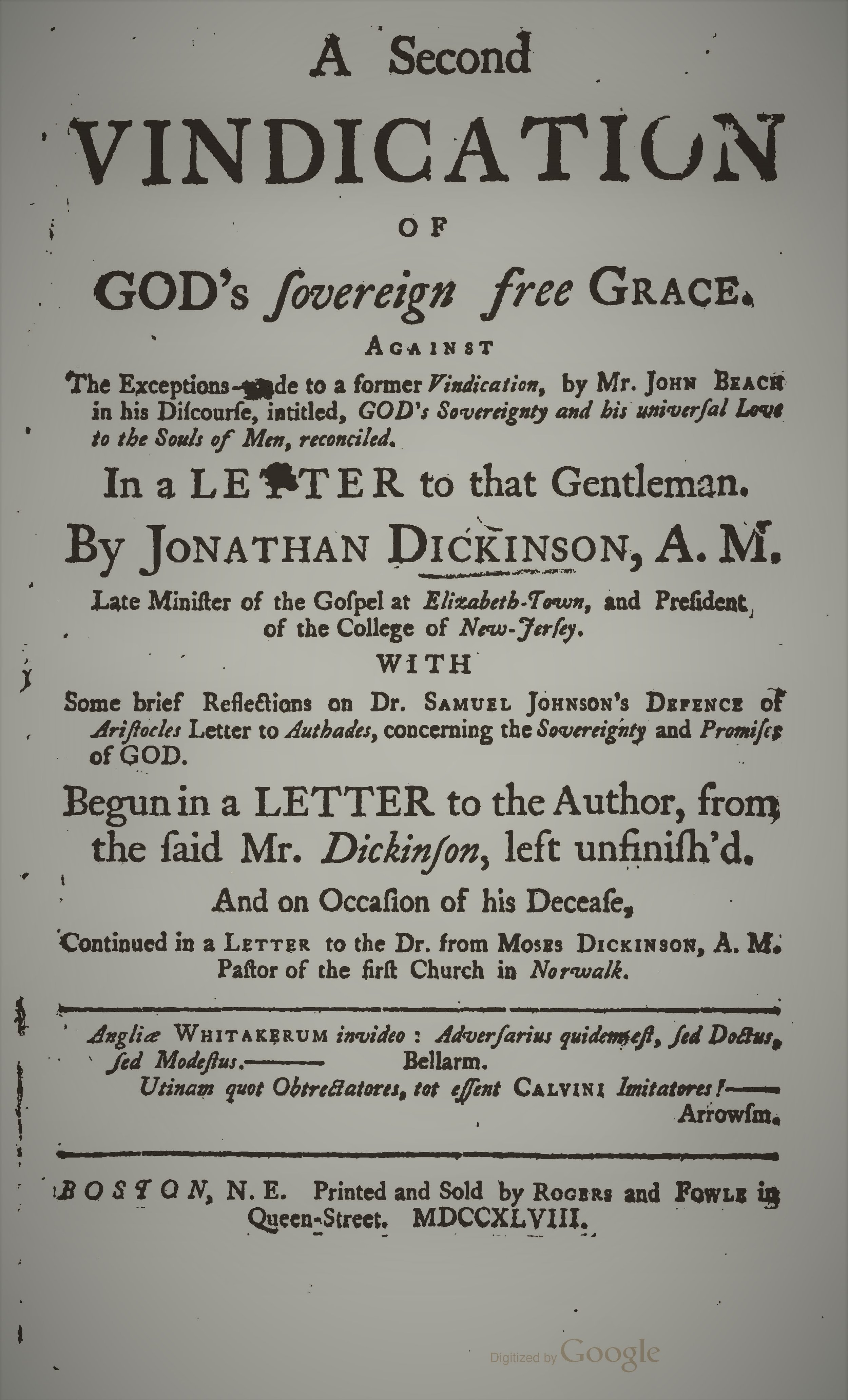 Dickinson, Jonathan - A Second Vindication of God's Sovereign.jpg