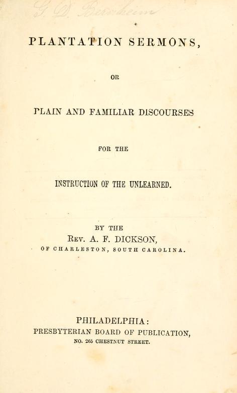 Dickson, Plantation Sermons.jpg