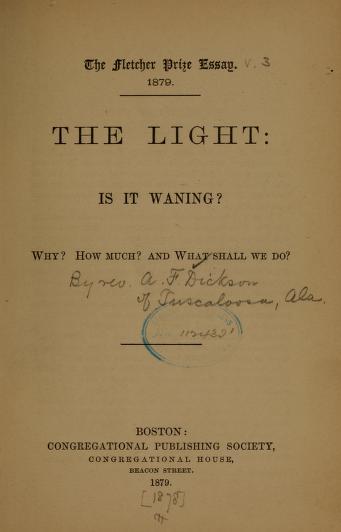 Dickson, The Light is it Waning.jpg