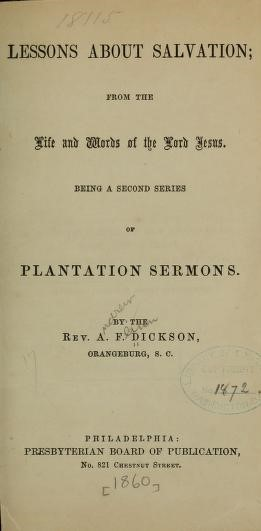 Dickson, Plantation Sermons 2.jpg