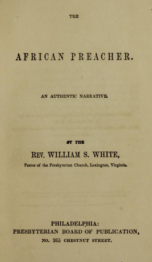 White, William S - The African Preacher.jpg