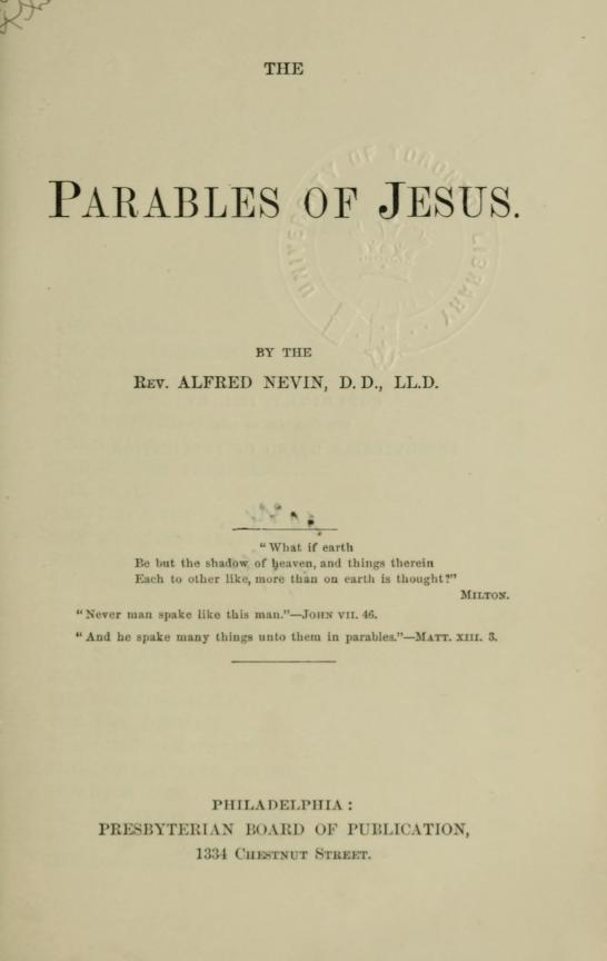 Nevin, Parables of Jesus.jpg