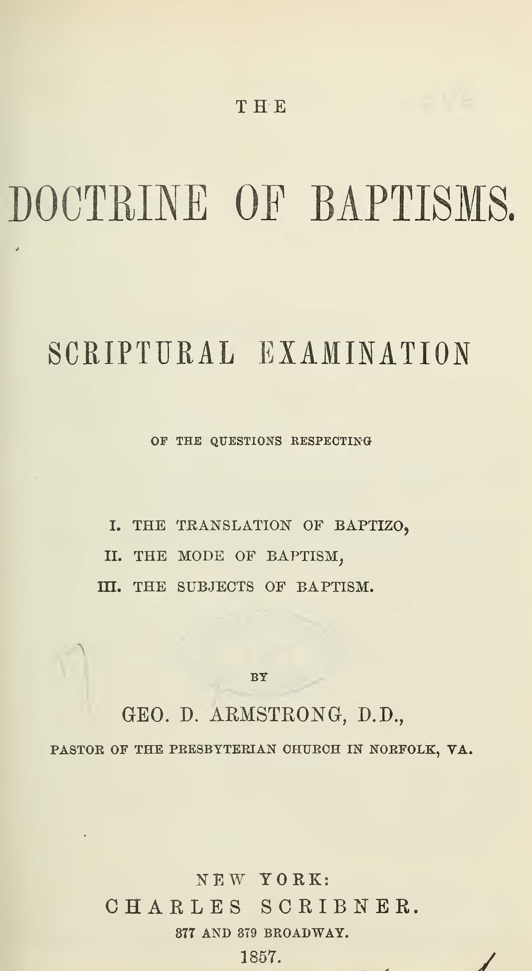 Armstrong, George D - The Doctrine of Baptisms.jpg