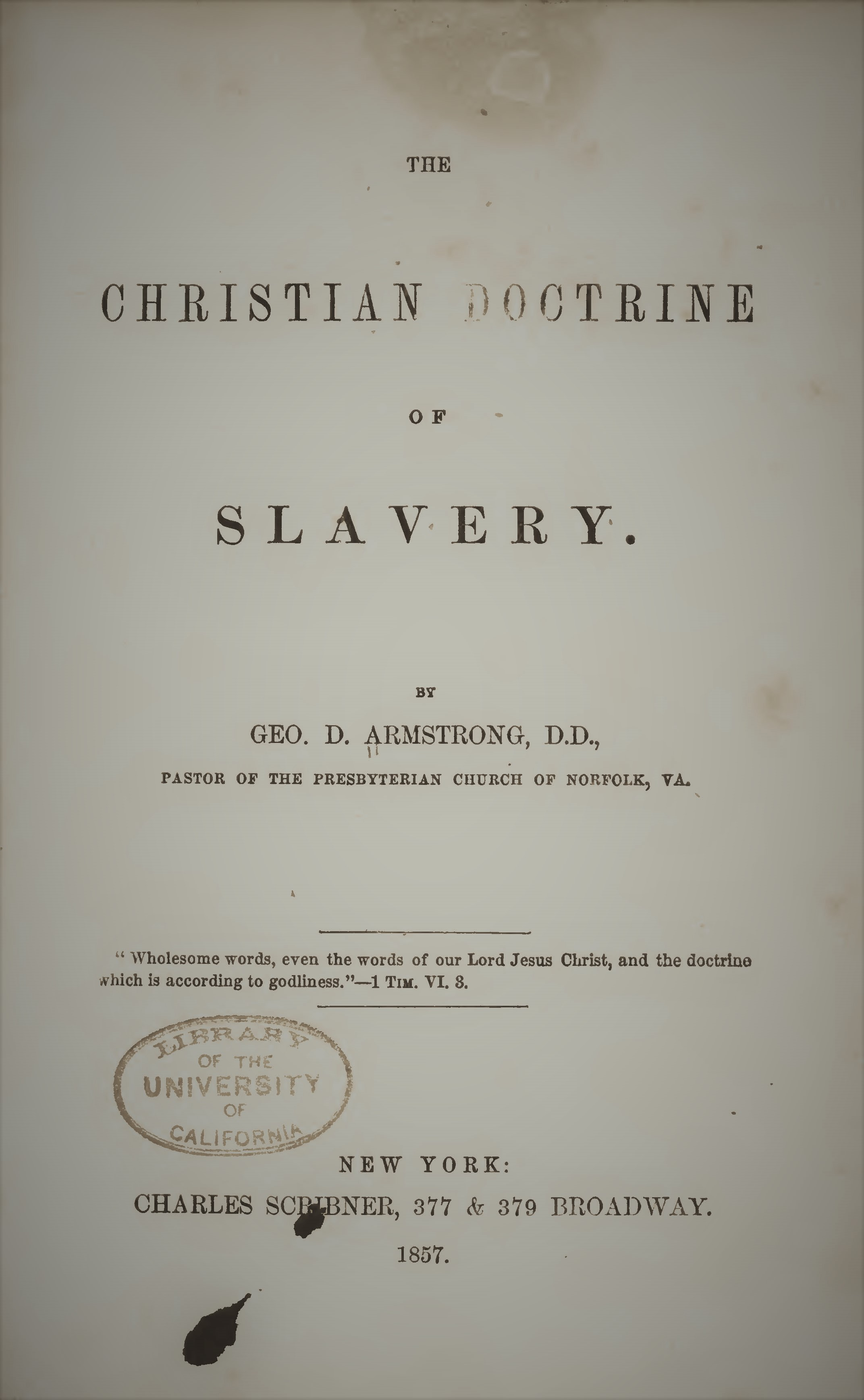 Armstrong, George D - The Christian Doctrine of Slavery.jpg