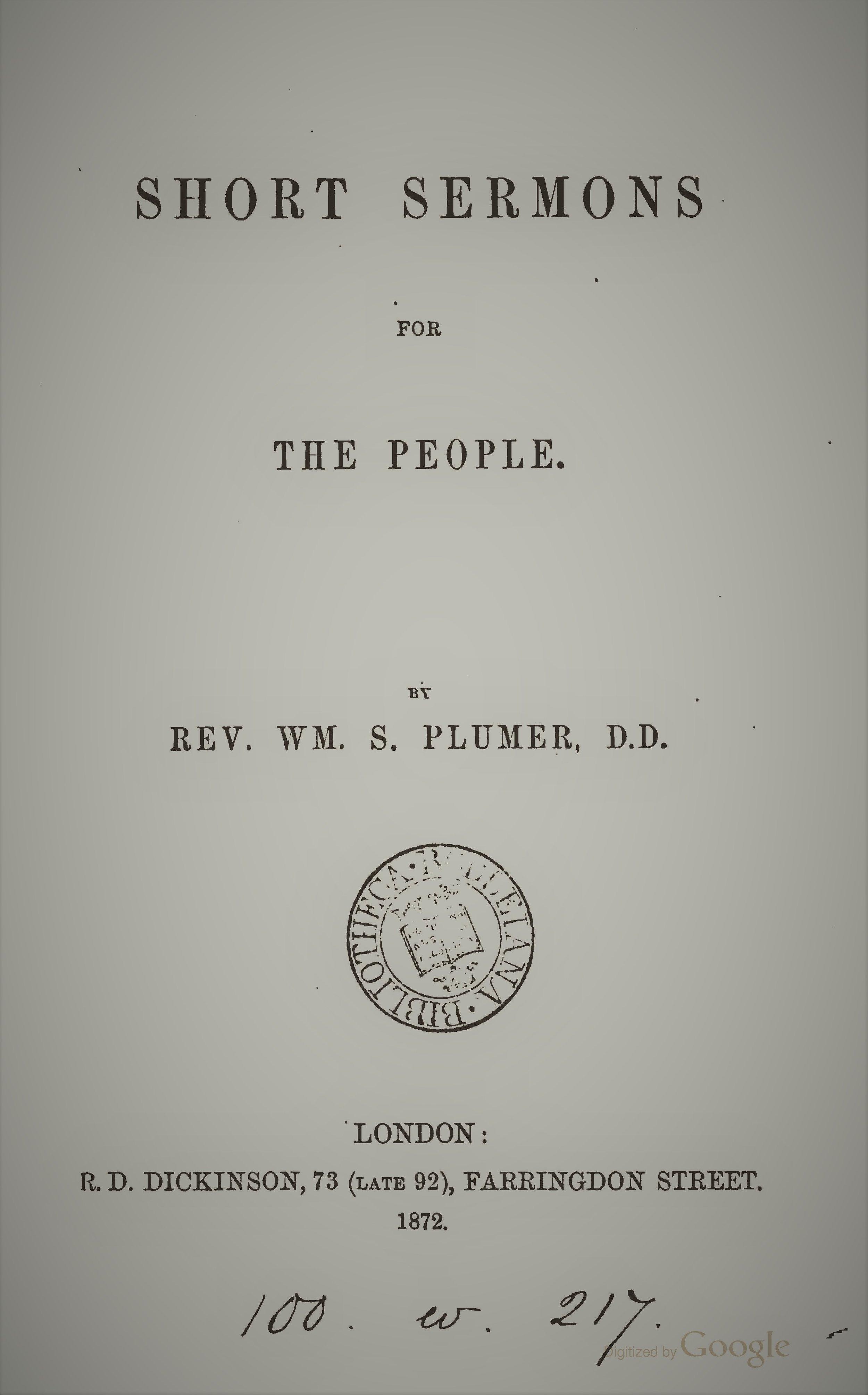 Plumer, Short Sermons for the People.jpg