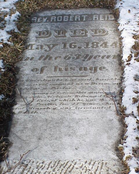 Robert Craig Reid is buried at Erie Cemetery, Erie, Pennsylvania.