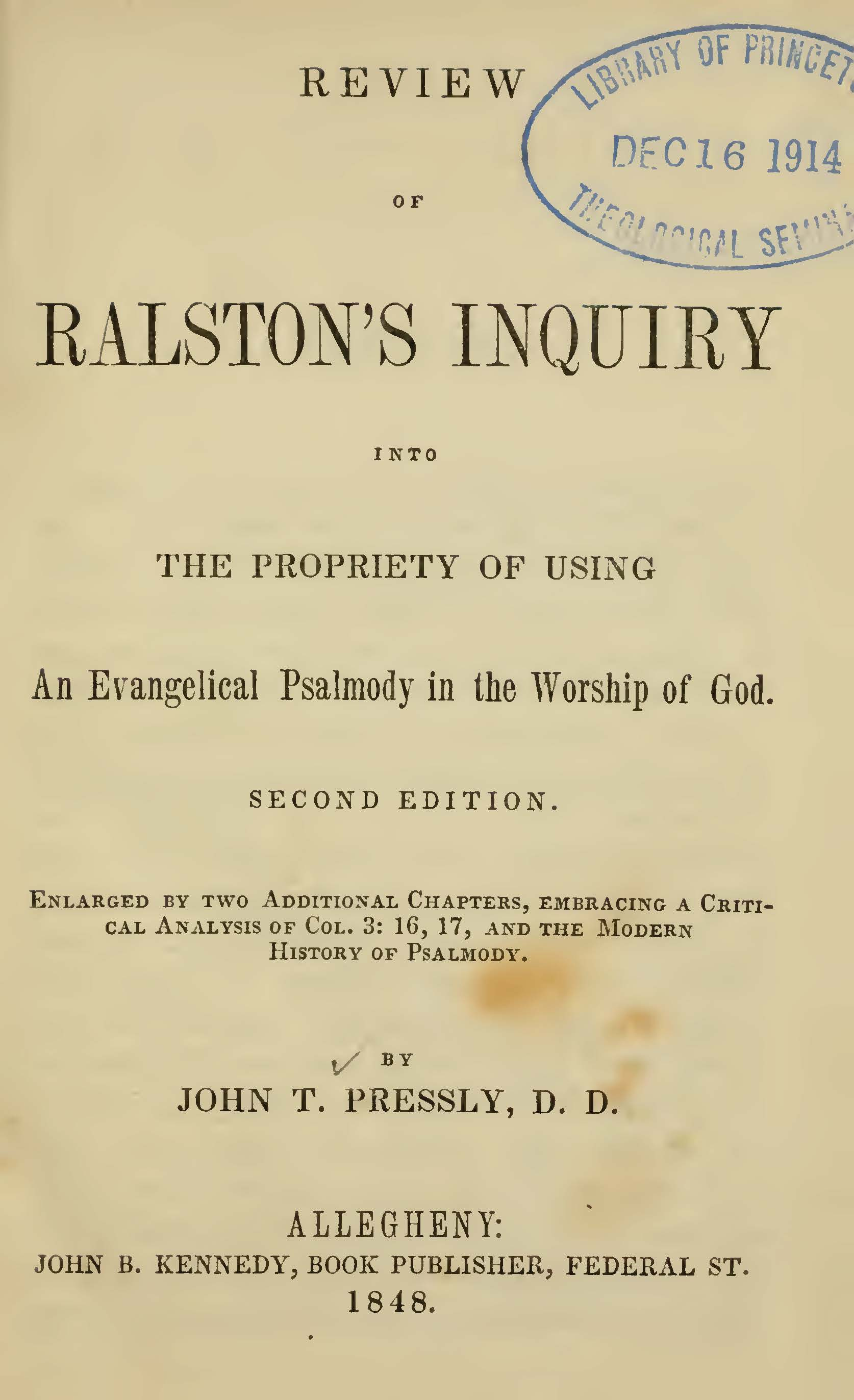 Pressly, John Taylor, Review of Ralstons Inquiry Title Page.jpg