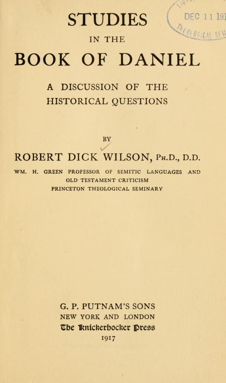 Wilson, Studies in the Book of Daniel (1).jpg