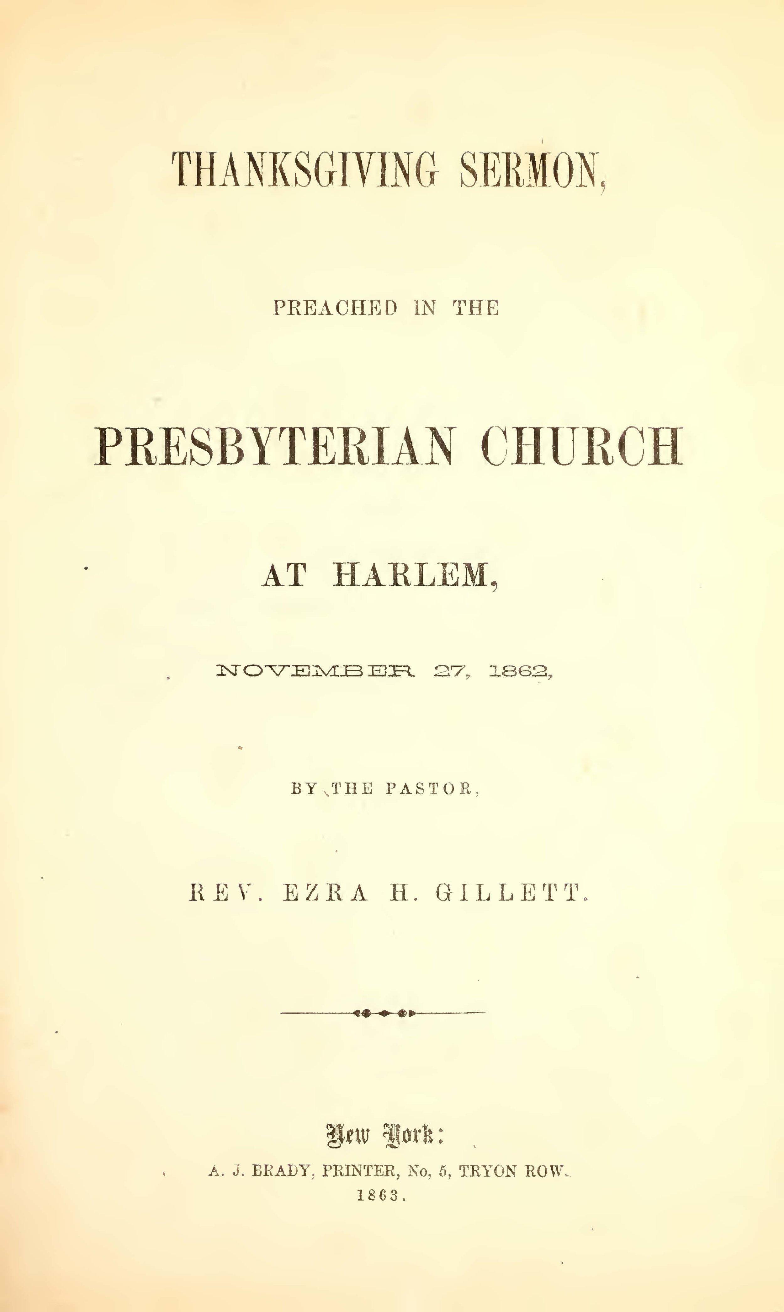 Gillett, Ezra Hall, Thanksgiving Sermon Title Page.jpg