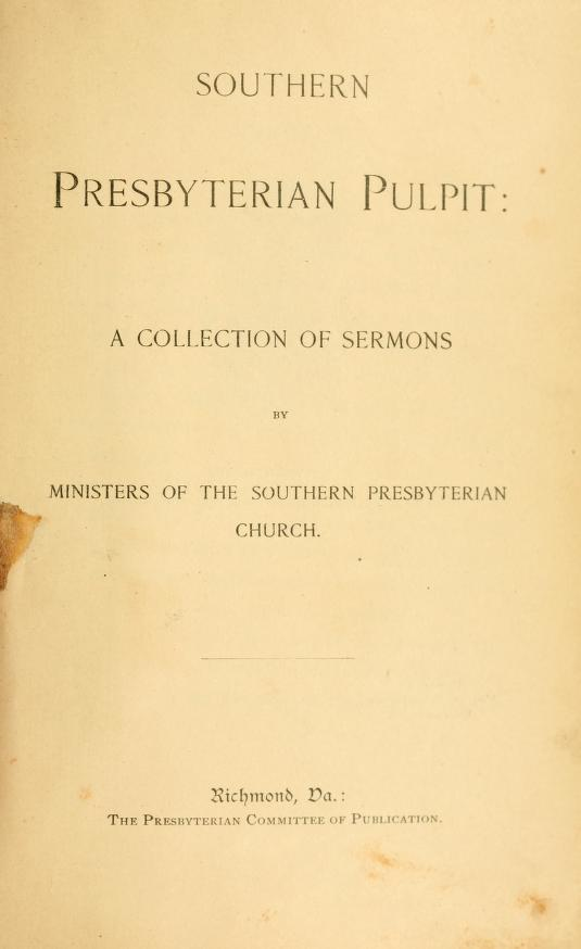 Southern Presbyterian Pulpit.jpg