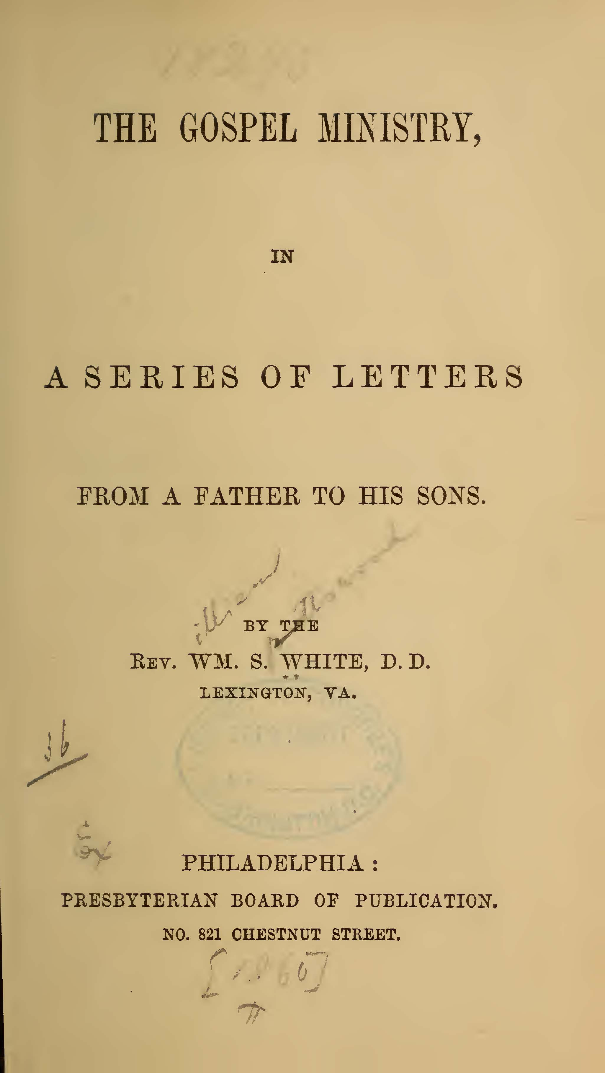 White, William Spotswood, The Gospel Ministry Title Page.jpg