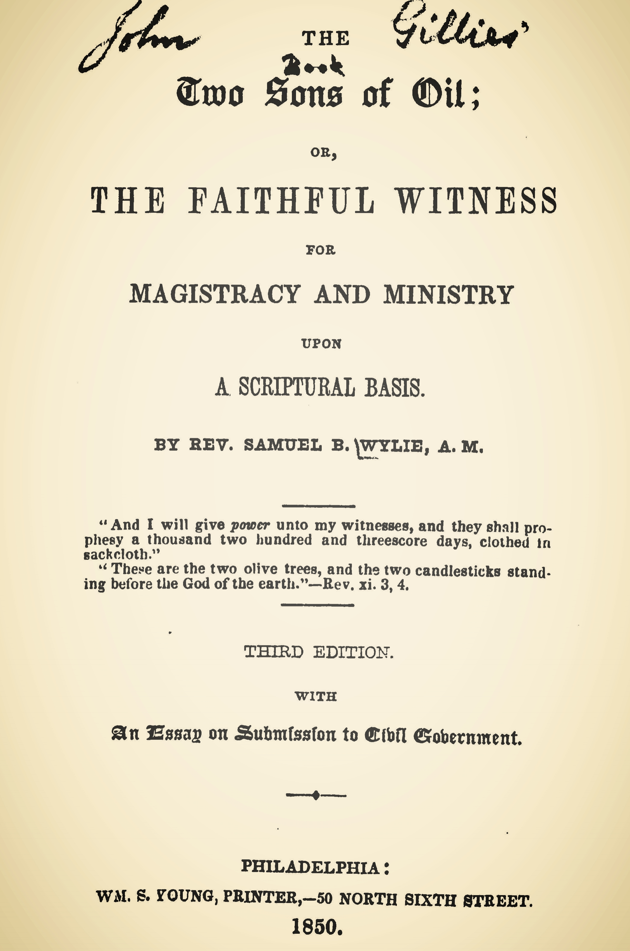 Wylie, Samuel Two Sons of Oil Title Page.jpg