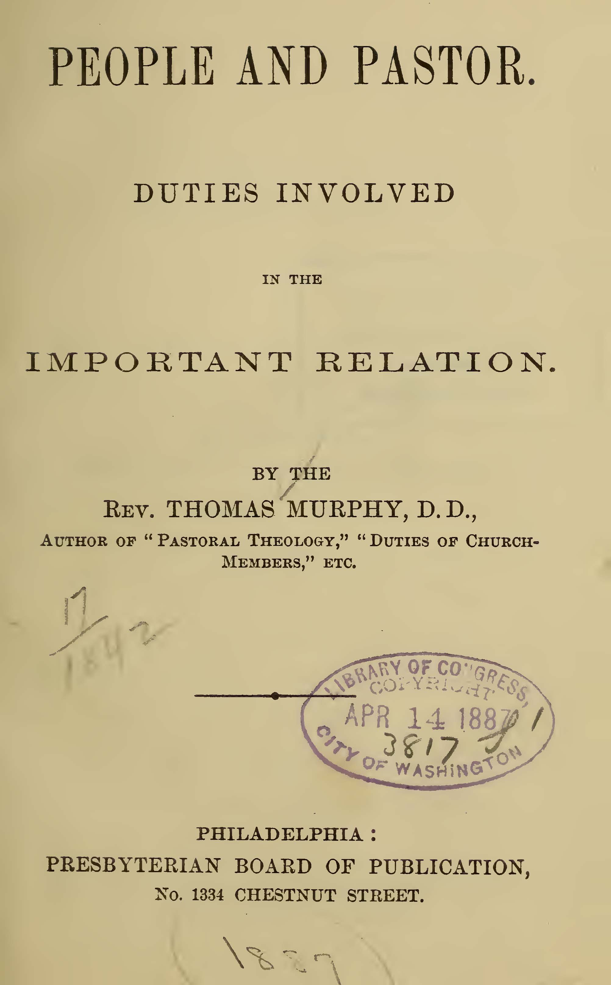 Murphy, Thomas, People and Pastor Title Page.jpg