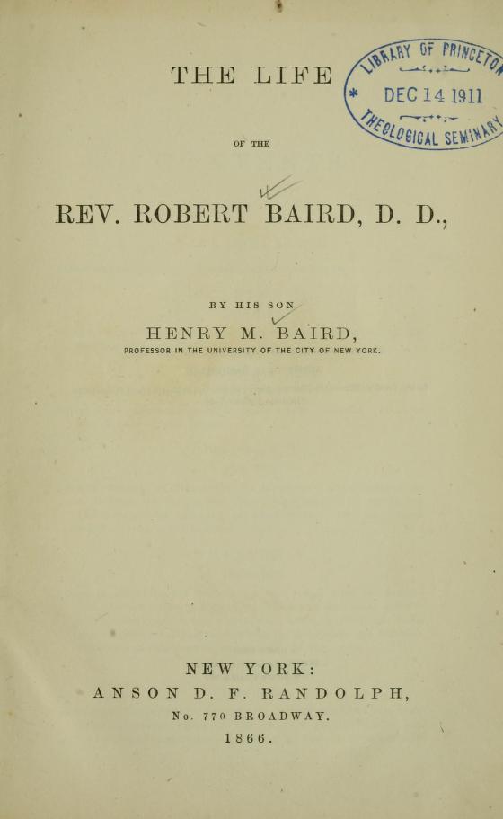Baird, Henry - Life of Robert Baird.jpg