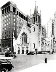 Madison Avenue Presbyterian Church in New York City, NY, where Thompson pastored before taking over as the leader of the Presbyterian Board of Home Missions at the turn of the 20th century.