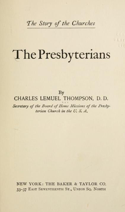 Thompson, The Presbyterians.jpg