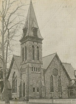 Samuel Miller, Jr., was ordained as the pastor of the Presbyterian Church in Mount Holly in 1845. The building above was built by the congregation in 1887.