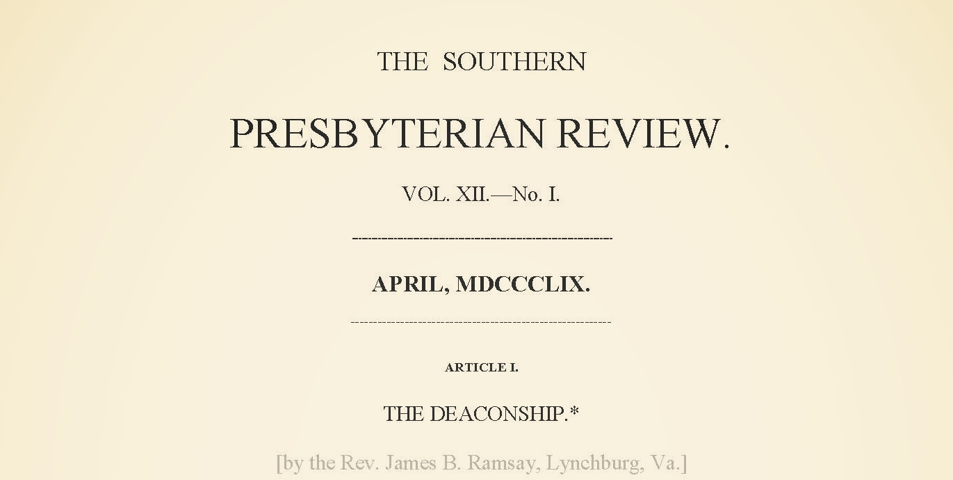 Ramsey, James Beverlin, The Deaconship Title Page.jpg