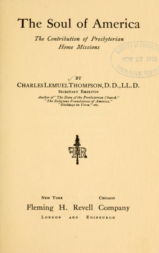 Thompson, The Soul of America.jpg