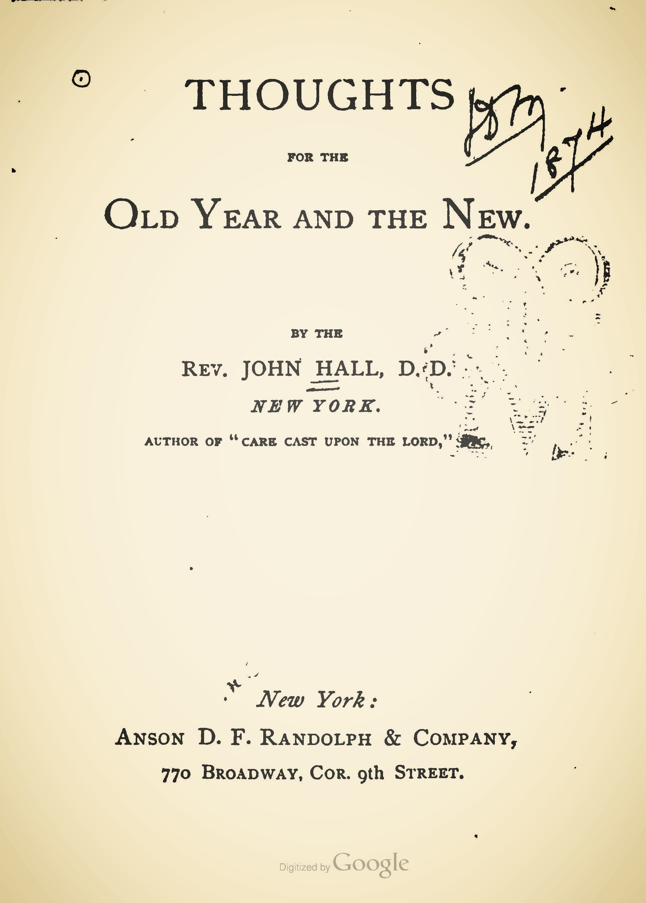 Hall, John, Thoughts for the Old Year and the New Title Page.jpg