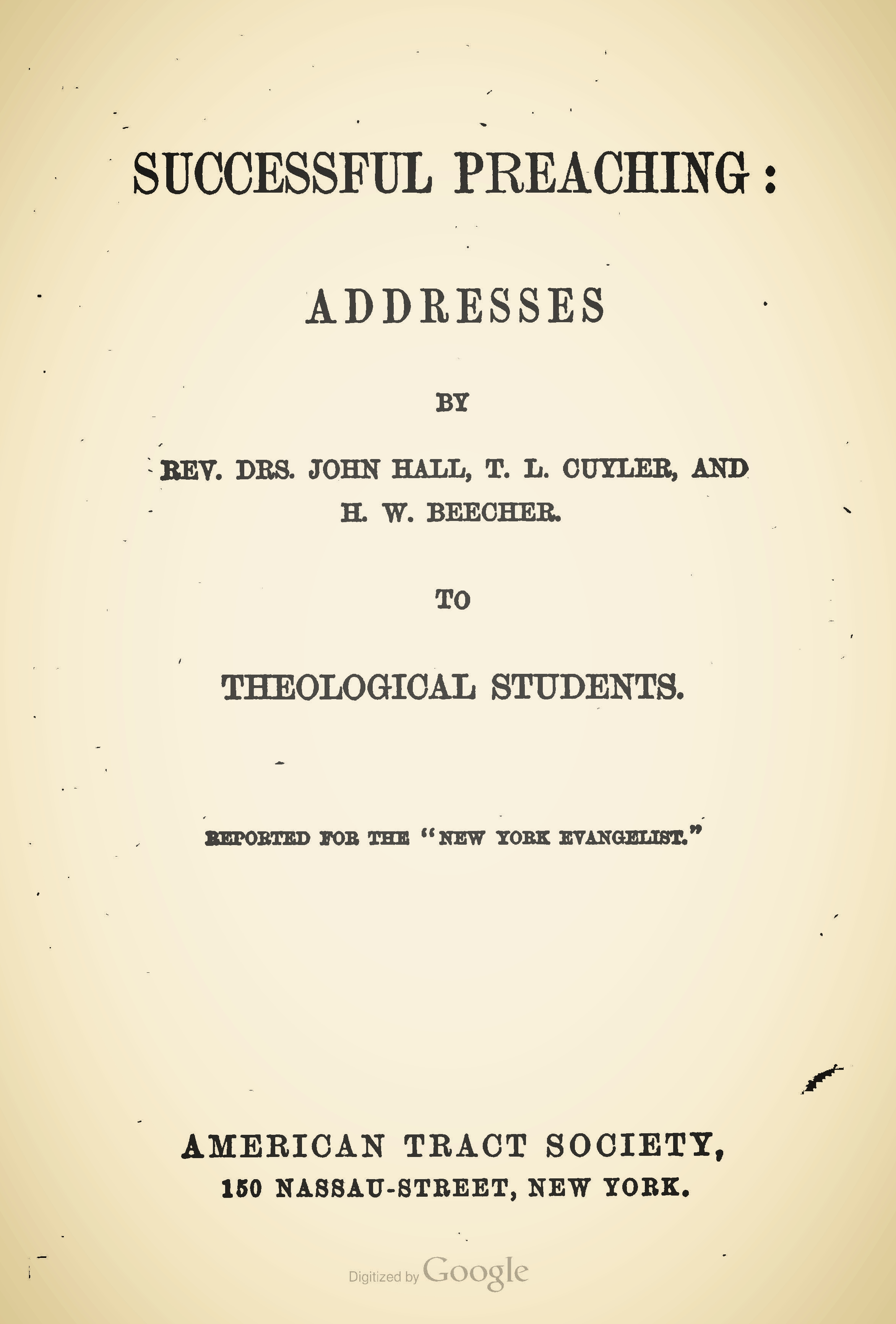Cuyler, Theodore, Successful Preaching Title Page.jpg