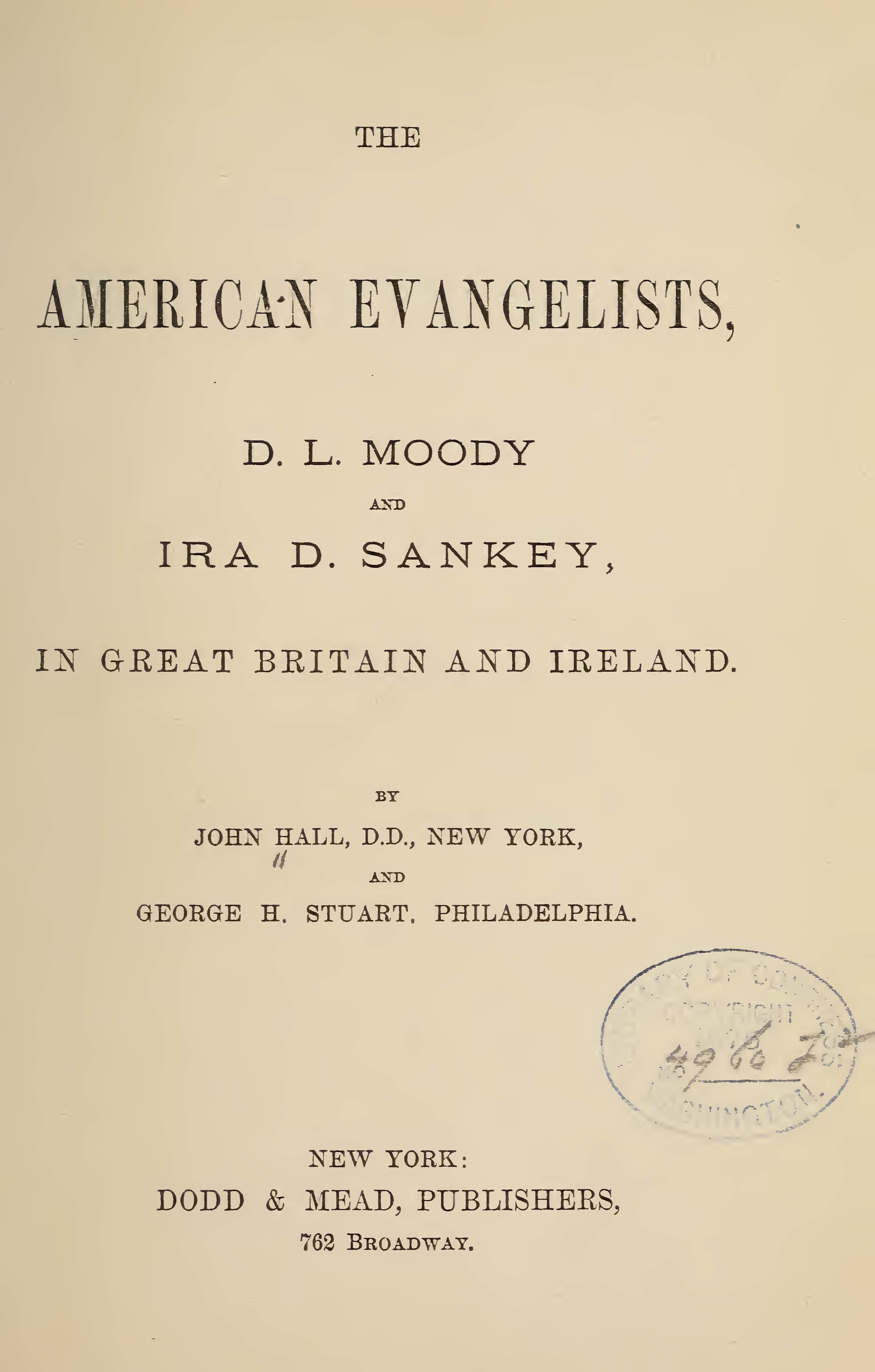 Hall, John,The American Evangelists Title Page.jpg