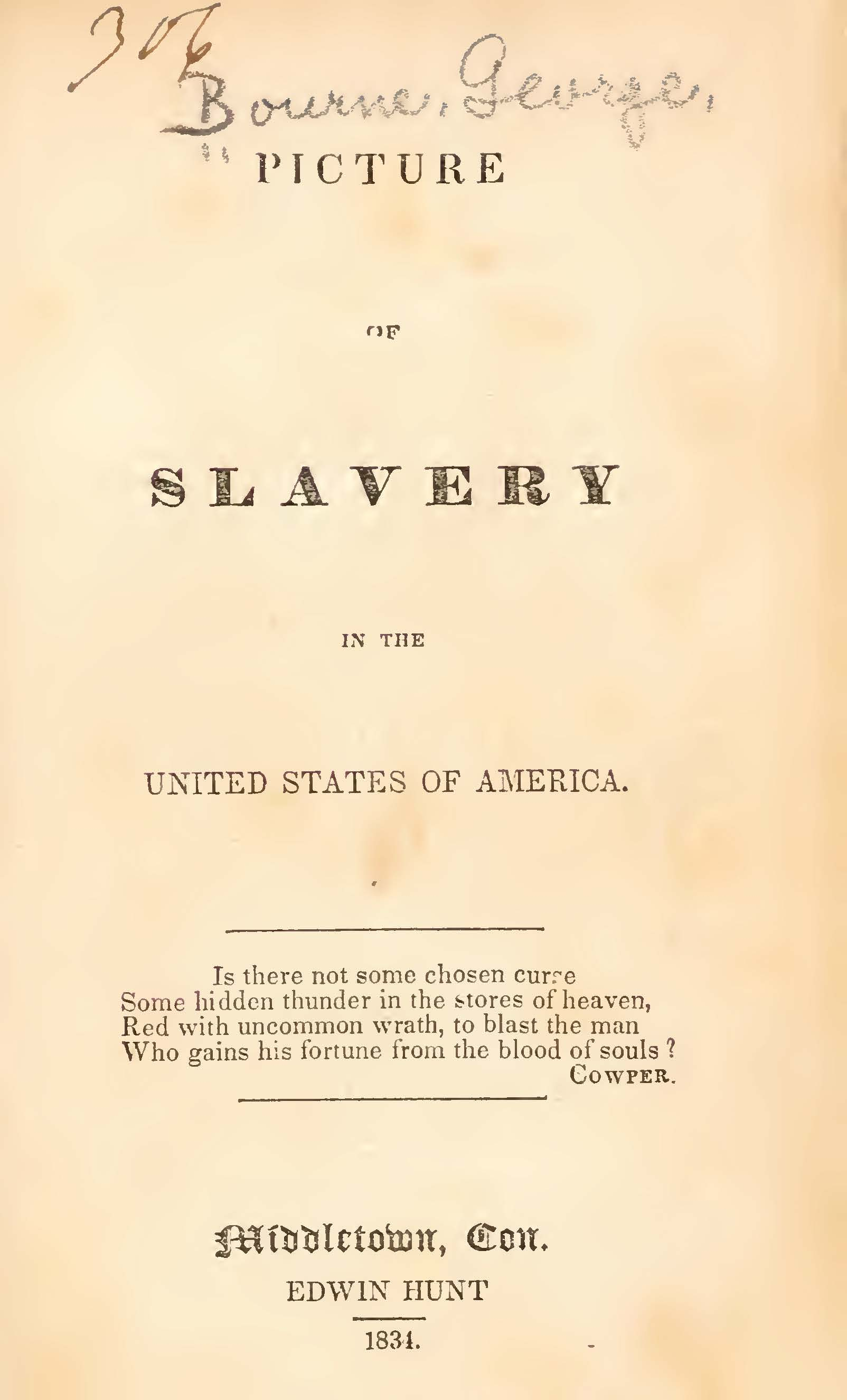 Bourne, George, Picture of Slavery in the United States of America Title Page.jpg