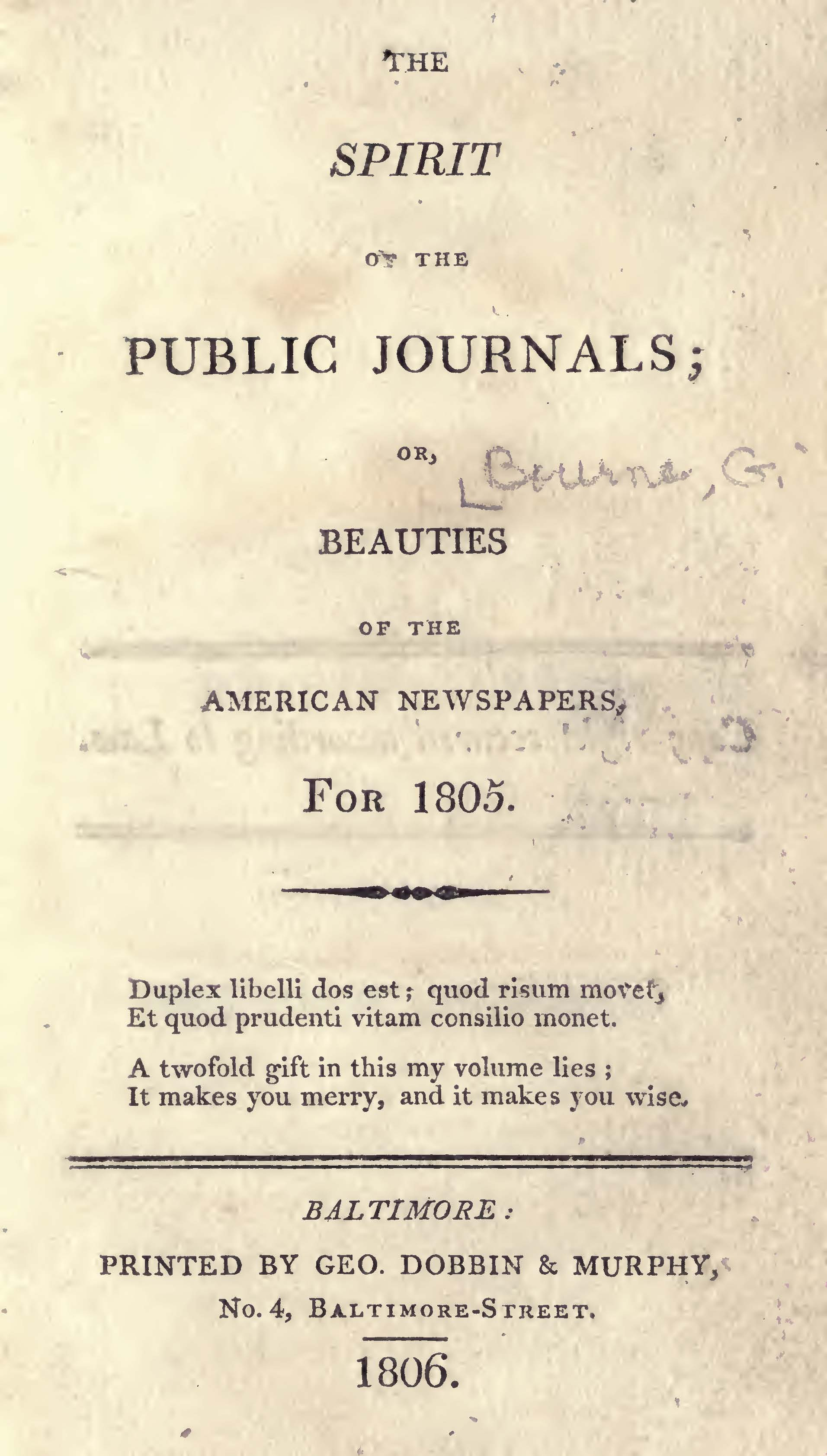 Bourne, George, The Spirit of the Public Journals Title Page.jpg