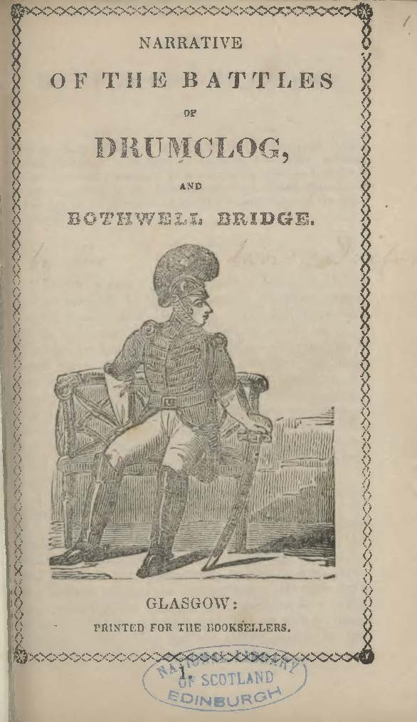 Brownlee, William Craig, Narrative of the Battles of Drumclog, and Bothwell Bridge Title Page.jpg