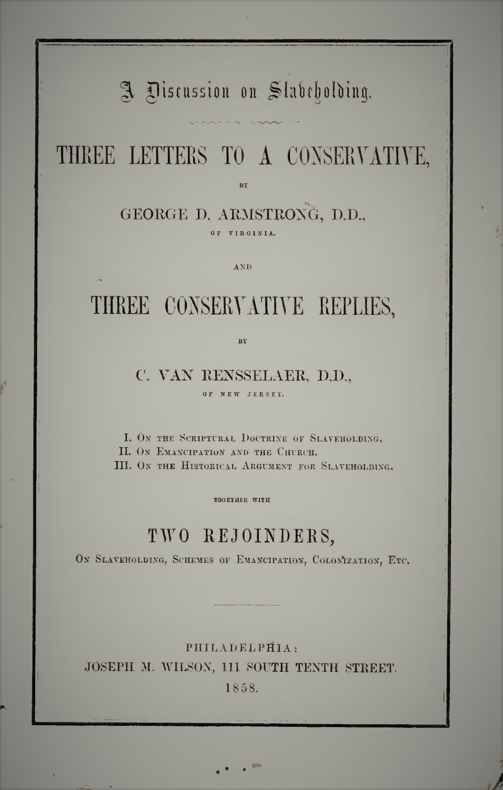 Armstrong, George D, and Courtland Van Rensselaer  - On Slavery.jpg