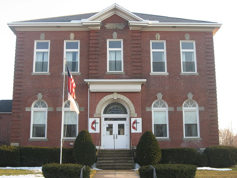 Pictured (2010): Front of the Evangelical United Methodist Church, located at 1985 W. Third Street in Xenia, Ohio, United States. Built in 1908, it formerly housed the Xenia Theological Seminary of the United Presbyterian Church of North America (Source: Wikipedia)