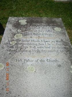 Samuel Blair's tombstone, Manor Presbyterian Church Cemetery, Cochranville, Chester County, Pennsylvania.