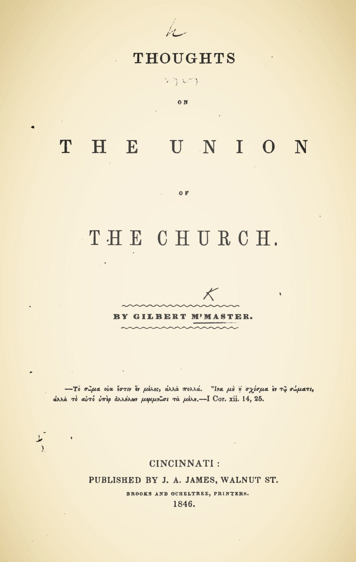 McMaster, Gilbert, Thoughts on the Union of the Church Title Page.jpg