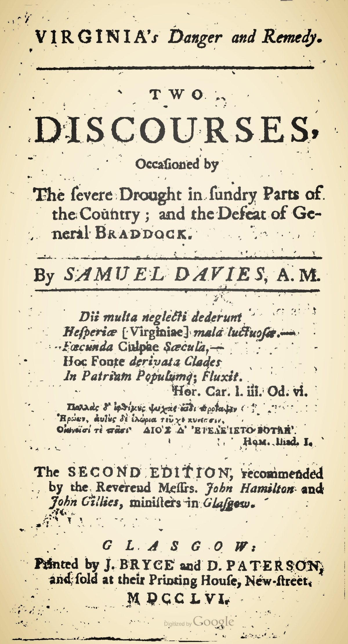 Davies, Samuel, Virginia's Danger and Remedy Title Page.jpg
