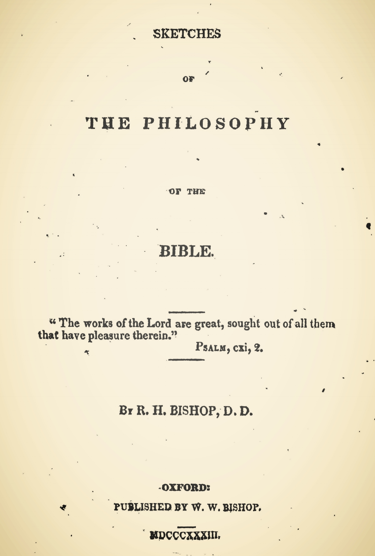 Bishop, Robert Hamilton, Sketches of the Philosophy of the Bible Title Page.jpg
