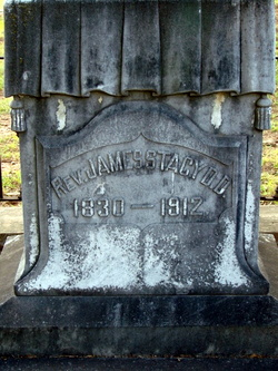 James Stacy is buried at Oak Hill Cemetery, Newnan, Georgia.