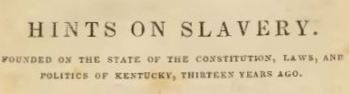 Breckinridge, Robert Jefferson, Hints on Slavery Title Page.jpg