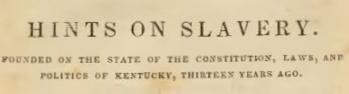 Breckinridge, Robert Jefferson, Hints on Slavery Title Page.jpg