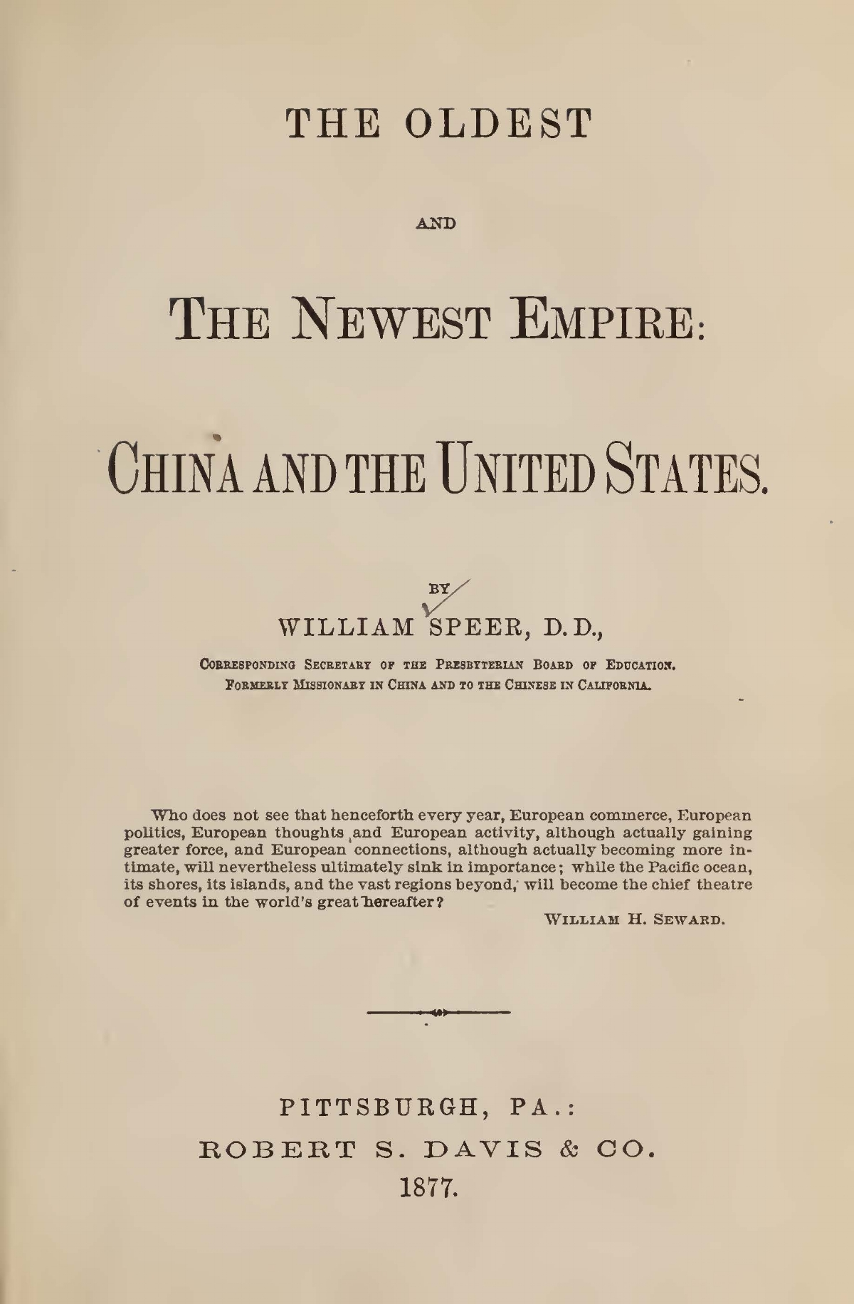 Speer, William, The Oldest and Newest Empire China and the United States Title Page.jpg